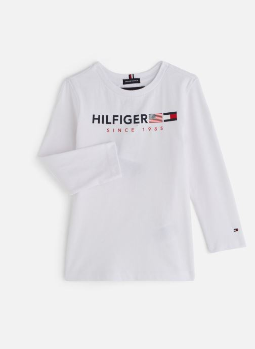 Kleding Tommy Hilfiger FLAGS GRAPHIC TEE Wit detail