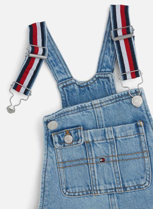 Vêtements Tommy Hilfiger Dungaree Dress Bleu vue portées chaussures