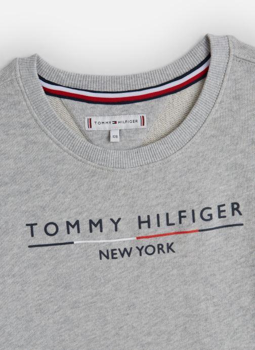 Vêtements Tommy Hilfiger Crew Sweatshirt Dress Gris vue portées chaussures
