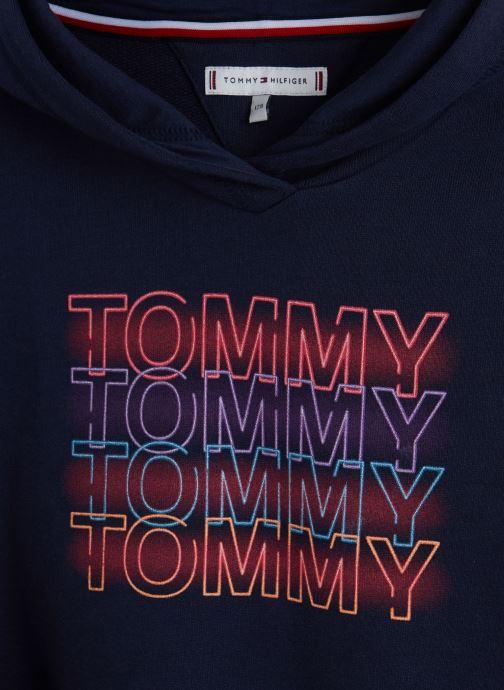 Vêtements Tommy Hilfiger Wide Sleeve Graphic Hoodie Bleu vue portées chaussures