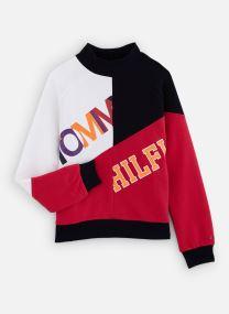 Tøj Accessories Color Text Block Sweatshirt