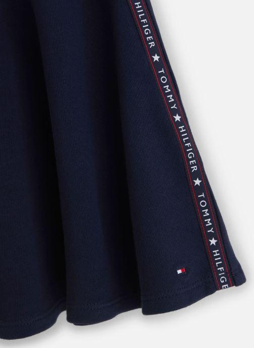 Vêtements Tommy Hilfiger Essential Tape Skirt Bleu vue portées chaussures