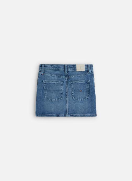 Vêtements Tommy Hilfiger Mini Skirt Pilble Bleu vue bas / vue portée sac