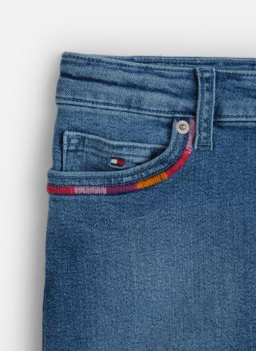 Vêtements Tommy Hilfiger Mini Skirt Pilble Bleu vue portées chaussures