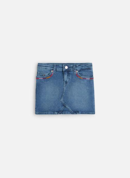 Vêtements Tommy Hilfiger Mini Skirt Pilble Bleu vue détail/paire