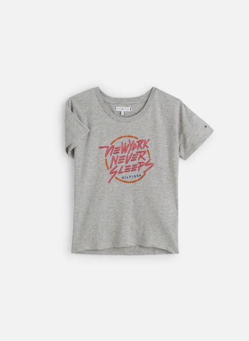 Vêtements Tommy Hilfiger City Print Tee Gris vue détail/paire