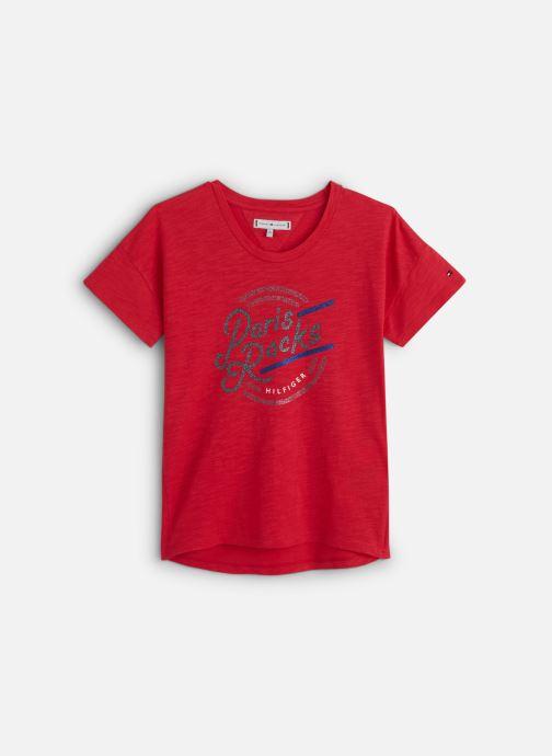 Vêtements Tommy Hilfiger City Print Tee Rose vue détail/paire