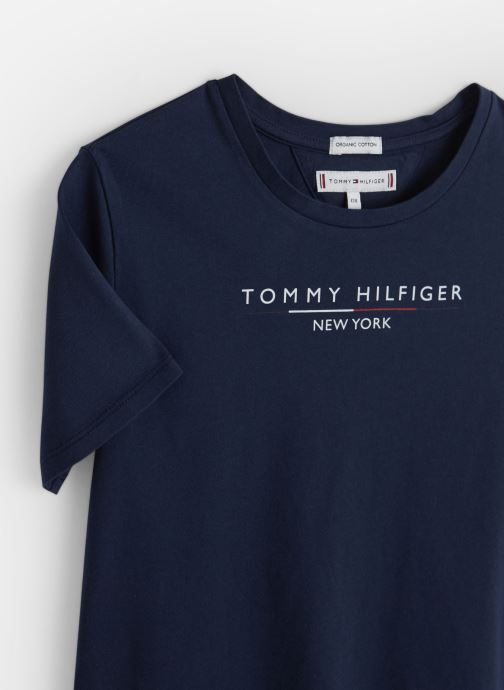 Vêtements Tommy Hilfiger Essential Hilfiger Tee Bleu vue portées chaussures