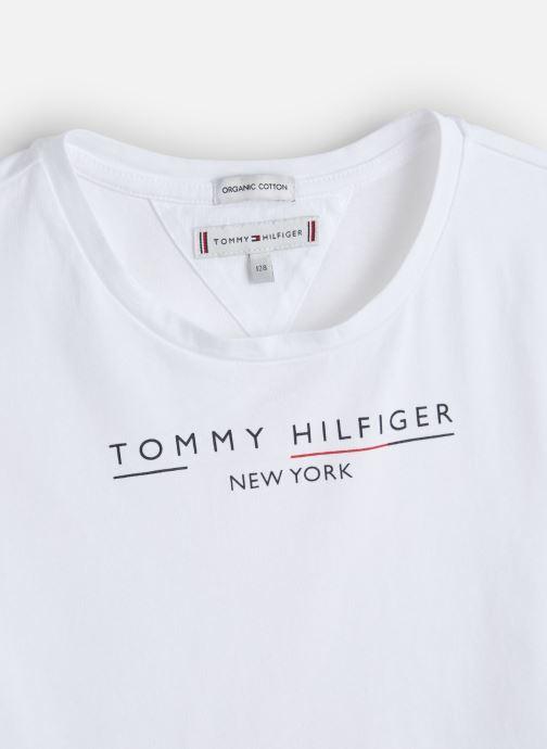 Vêtements Tommy Hilfiger Essential Hilfiger Tee Blanc vue portées chaussures
