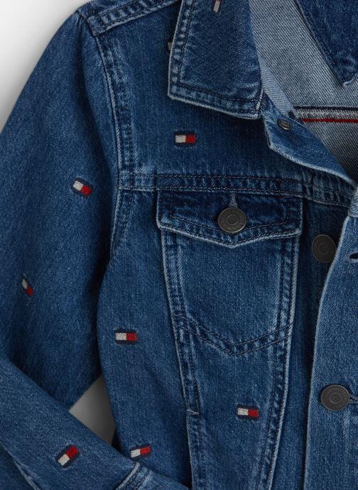 Vêtements Tommy Hilfiger Oversized Trucker U Mbflea Bleu vue portées chaussures