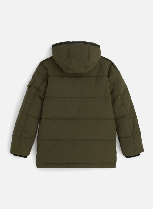 Vêtements Tommy Hilfiger Longer Padded Parka Vert vue bas / vue portée sac