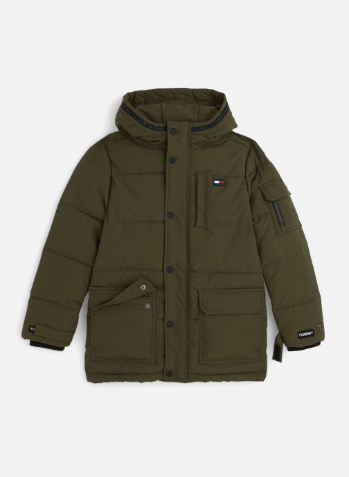 Vêtements Tommy Hilfiger Longer Padded Parka Vert vue détail/paire