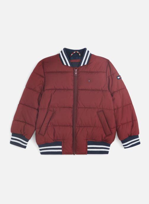 Vêtements Tommy Hilfiger Padded Bomber Bordeaux vue détail/paire
