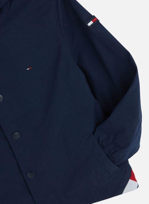 Vêtements Tommy Hilfiger Hooded Coach Jacket Bleu vue portées chaussures
