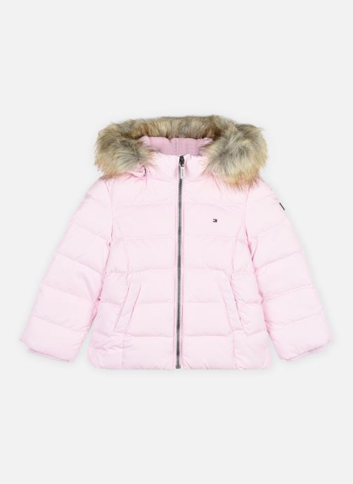 Vêtements Tommy Hilfiger Essential Basic Down Jacket Rose vue détail/paire