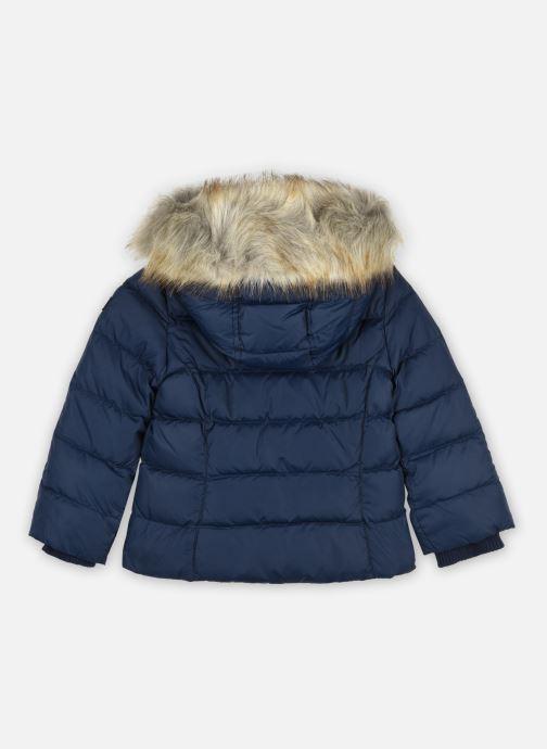 Vêtements Tommy Hilfiger Essential Basic Down Jacket Bleu vue portées chaussures