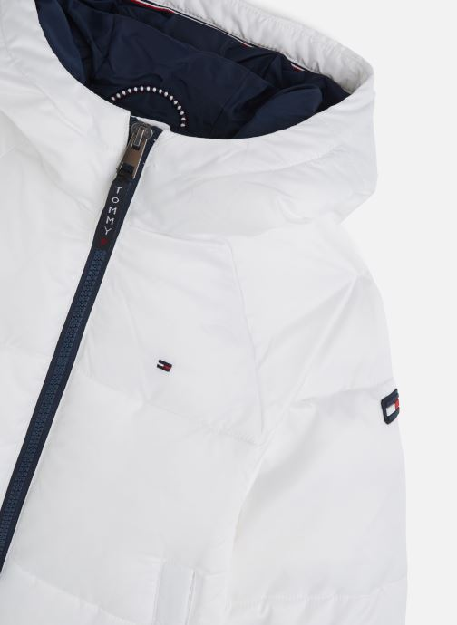 Kleding Tommy Hilfiger Recycled Short Puffer Wit model