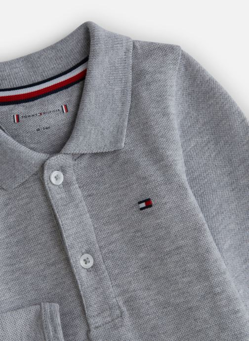 Vêtements Tommy Hilfiger Baby Polo Body Giftbox Gris vue portées chaussures