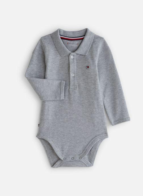 Vêtements Tommy Hilfiger Baby Polo Body Giftbox Gris vue détail/paire