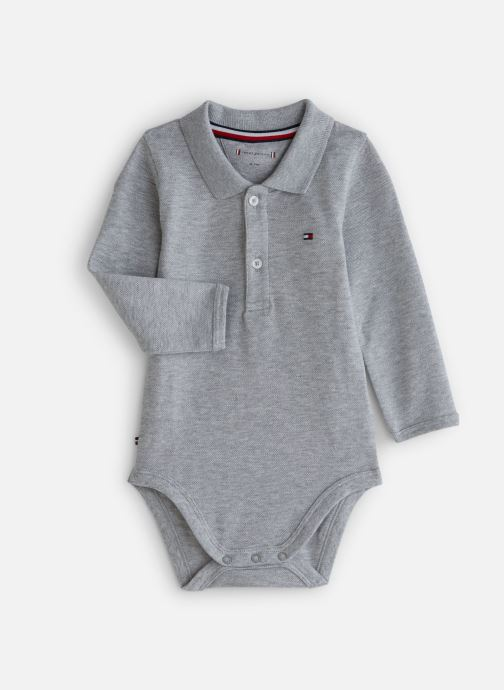 Kleding Tommy Hilfiger Baby Polo Body Giftbox Grijs detail