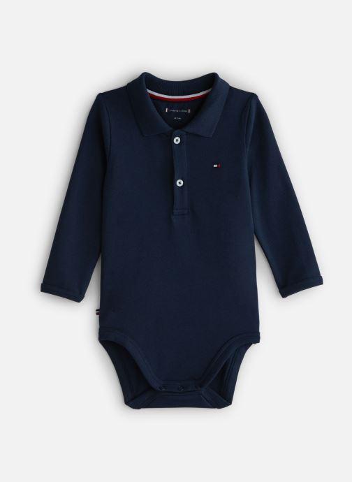 Vêtements Tommy Hilfiger Baby Polo Body Giftbox Bleu vue détail/paire