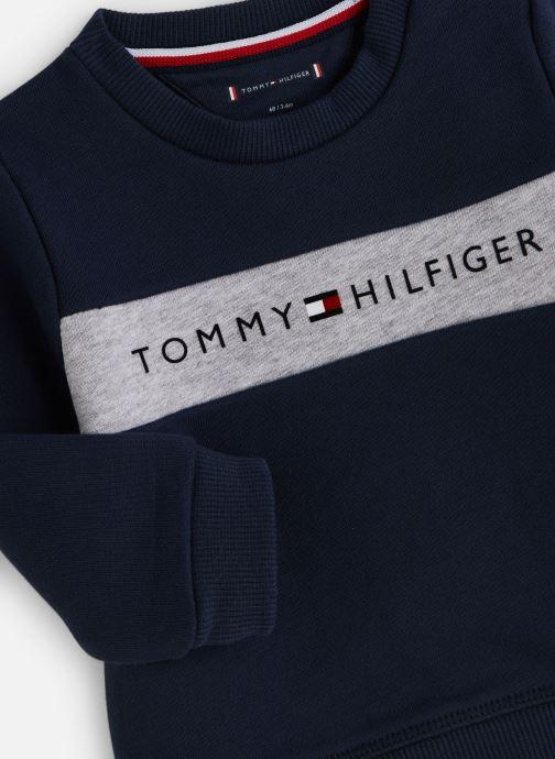Vêtements Tommy Hilfiger Baby Tommy Loopback Sweatshirt Bleu vue portées chaussures