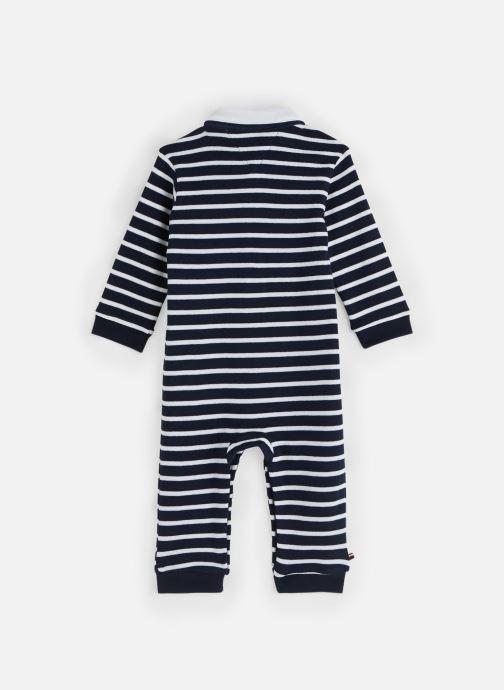 Vêtements Tommy Hilfiger Baby Rugby Stripe Coverall Bleu vue bas / vue portée sac