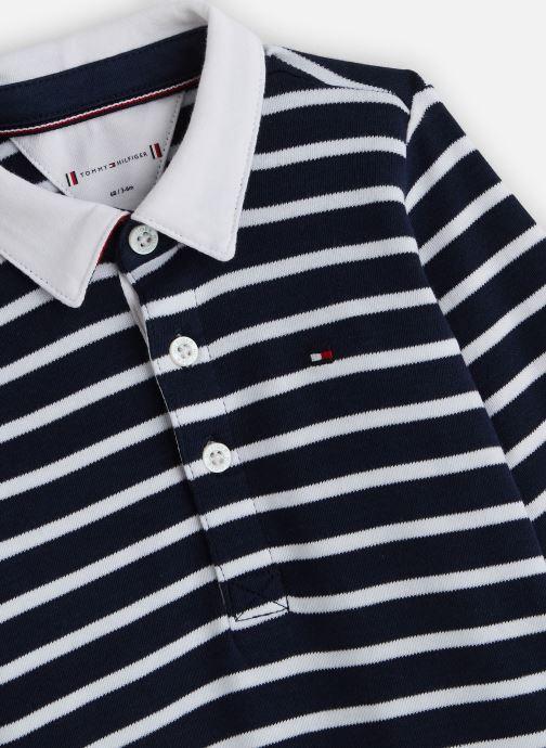 Vêtements Tommy Hilfiger Baby Rugby Stripe Coverall Bleu vue portées chaussures