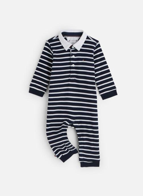 Vêtements Tommy Hilfiger Baby Rugby Stripe Coverall Bleu vue détail/paire