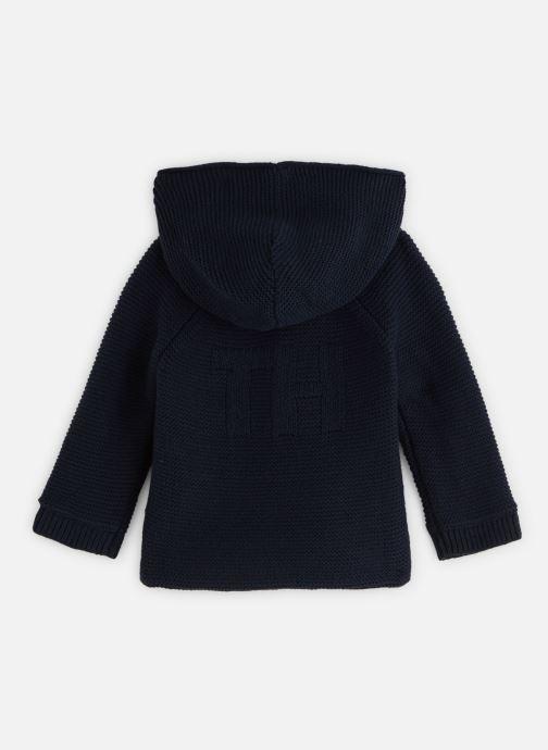 Vêtements Tommy Hilfiger Baby Raglan Cardigan Bleu vue bas / vue portée sac
