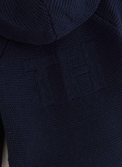 Vêtements Tommy Hilfiger Baby Raglan Cardigan Bleu vue portées chaussures