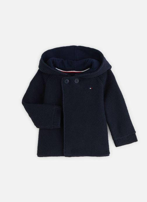 Vêtements Tommy Hilfiger Baby Raglan Cardigan Bleu vue détail/paire