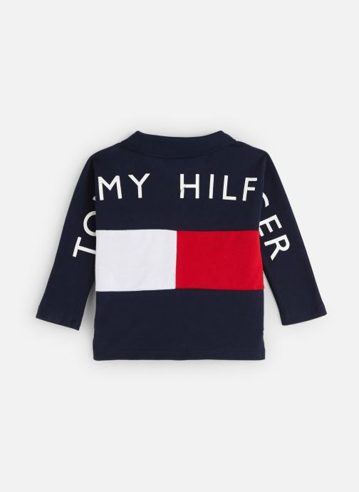 Vêtements Tommy Hilfiger Baby Flag Polo Bleu vue bas / vue portée sac