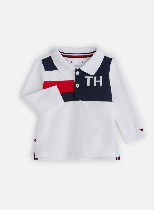 Vêtements Tommy Hilfiger Baby Tommy Polo Blanc vue détail/paire