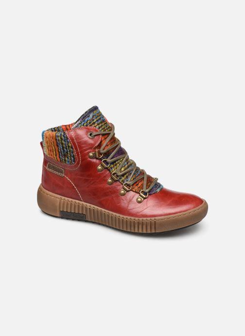 Ankelstøvler Josef Seibel Maren 06 Rød detaljeret billede af skoene