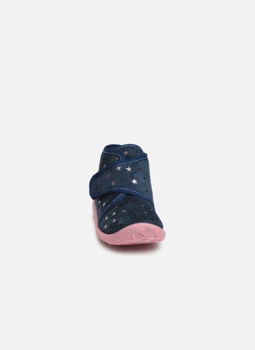 Chaussons Superfit Spotty Bleu vue portées chaussures