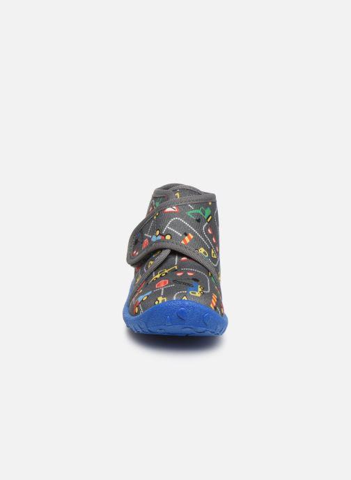 Chaussons Superfit Spotty Gris vue portées chaussures