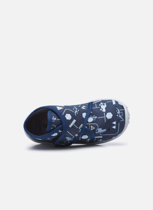 Pantuflas Superfit Spotty Azul vista lateral izquierda