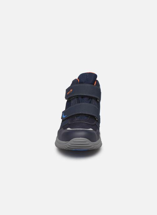 Baskets Superfit Storm GTX Bleu vue portées chaussures