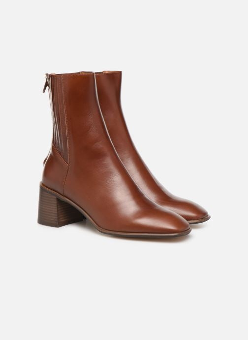 Ankle boots E8 by Miista Inka Brown 3/4 view