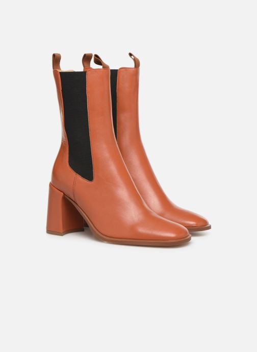 Ankle boots E8 by Miista Mille Brown 3/4 view