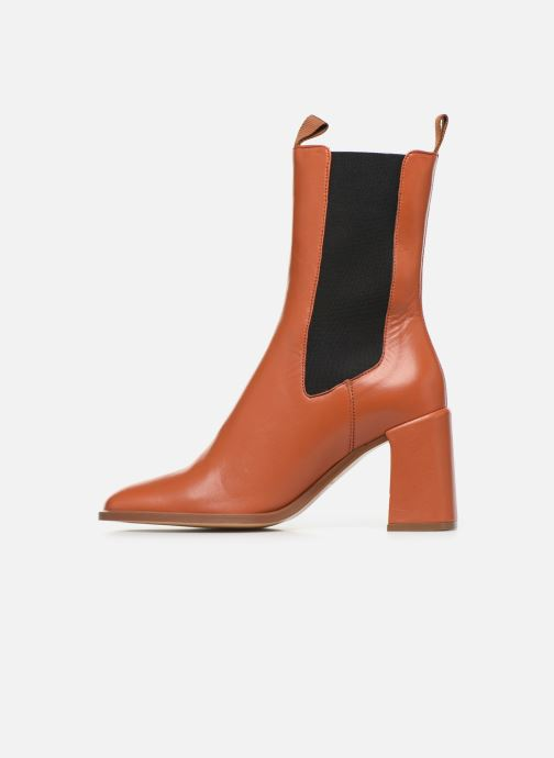Ankle boots E8 by Miista Mille Brown front view
