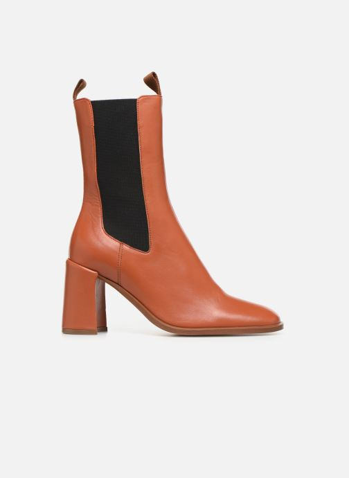 Ankle boots E8 by Miista Mille Brown back view