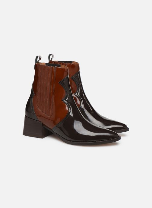 Ankle boots E8 by Miista Minea Brown 3/4 view