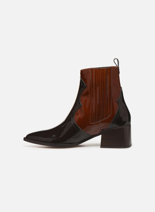 Ankle boots E8 by Miista Minea Brown front view