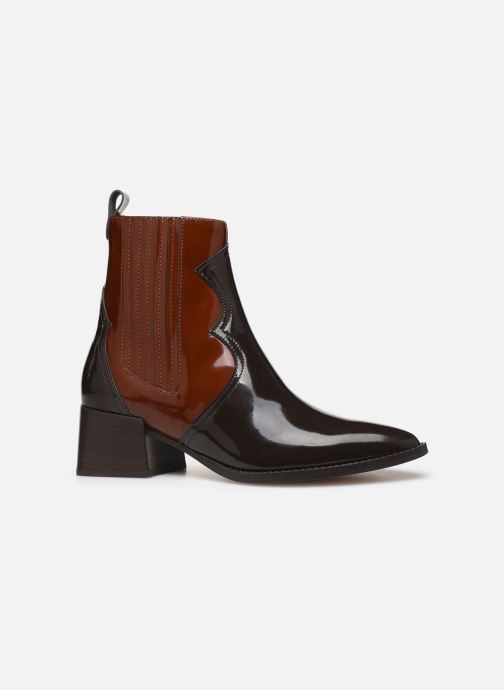 Ankle boots E8 by Miista Minea Brown back view