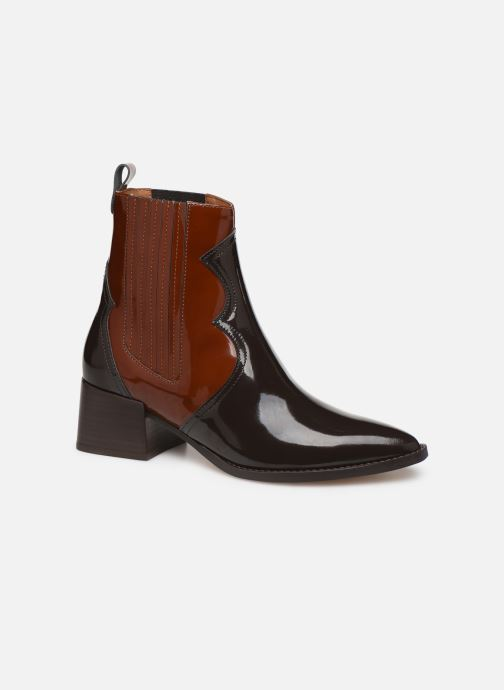 Ankle boots E8 by Miista Minea Brown detailed view/ Pair view