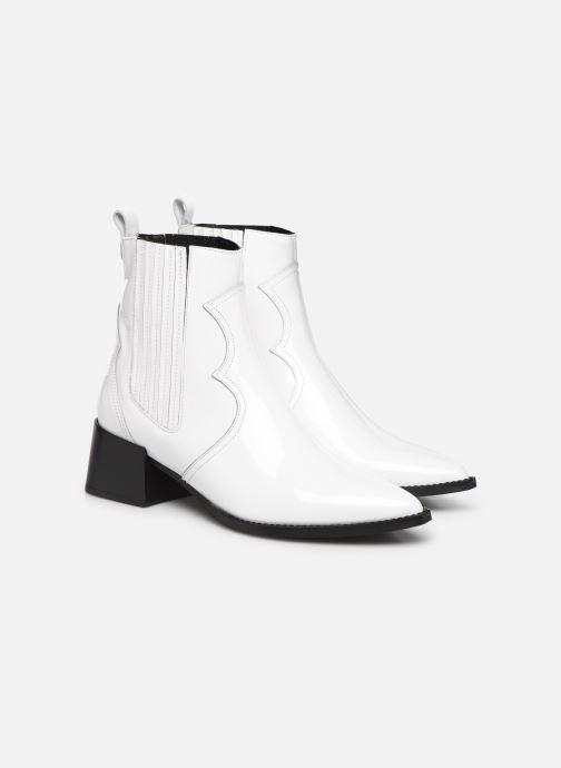Bottines et boots E8 by Miista Minea Blanc vue 3/4