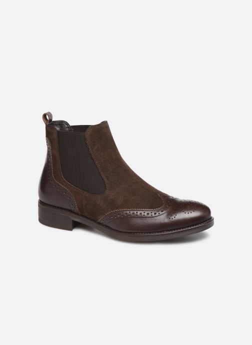 Ankle boots Georgia Rose Abiga Brown detailed view/ Pair view