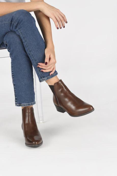 Bottines et boots Georgia Rose Aina Marron vue bas / vue portée sac